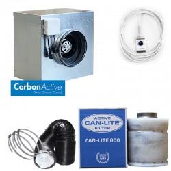 CarbonActive EC Silent Box 750 m³/h 200 mm inkl. GrowControl FANSPEED EC RJ45