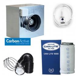CarbonActive EC Silent Box 1000m³/h 200mm inkl. GrowControl FANSPEED EC RJ45