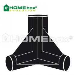 HOMEbox® 3 Wege Verbinder 22 mm
