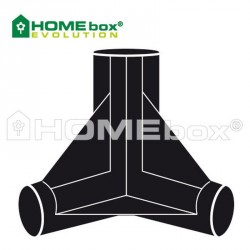 Homebox Spare Parts 3 Wege Verbinder 22mm