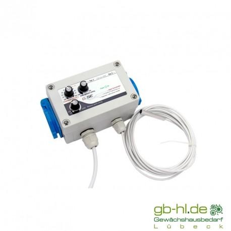 GSE Digital Fancontroller, temperaturabhängiger, digitaler Drehzahlregler (2L) 3A