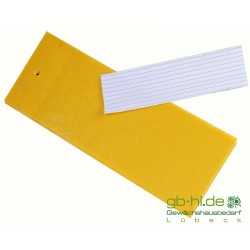 Gelbtafeln 5 x 12 cm 10 Stück