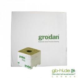 Karton Grodan Steinwollwürfel 7,5 x 7,5 cm kl. Loch