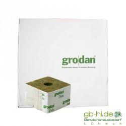 Karton Grodan Steinwollwürfel 10 x 10 cm kl. Loch