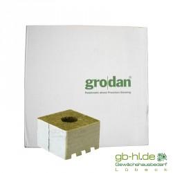 Karton Grodan Steinwollwürfel 10 x 10 cm gr. Loch